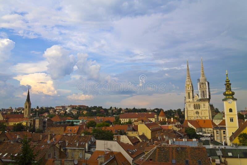 Panorama de Zagreb photographie stock libre de droits