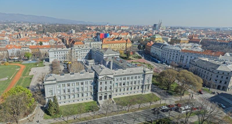 Panorama de Zagreb fotos de archivo libres de regalías