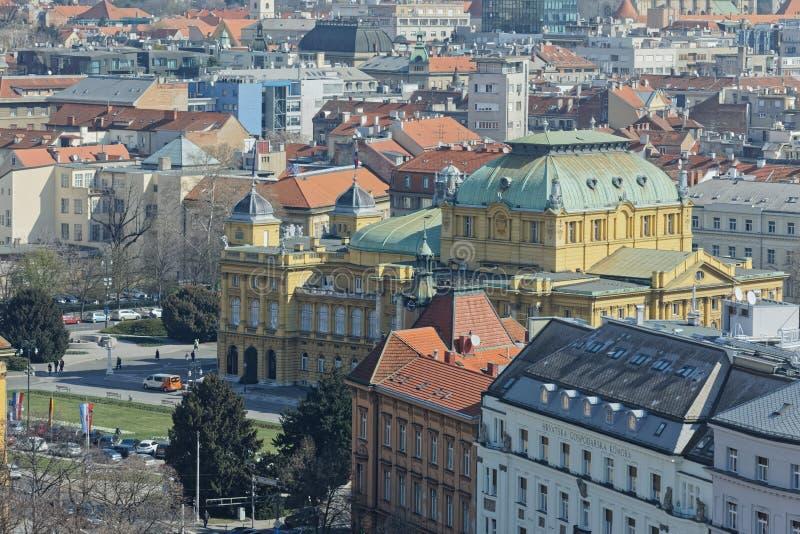 Panorama de Zagreb imagen de archivo libre de regalías