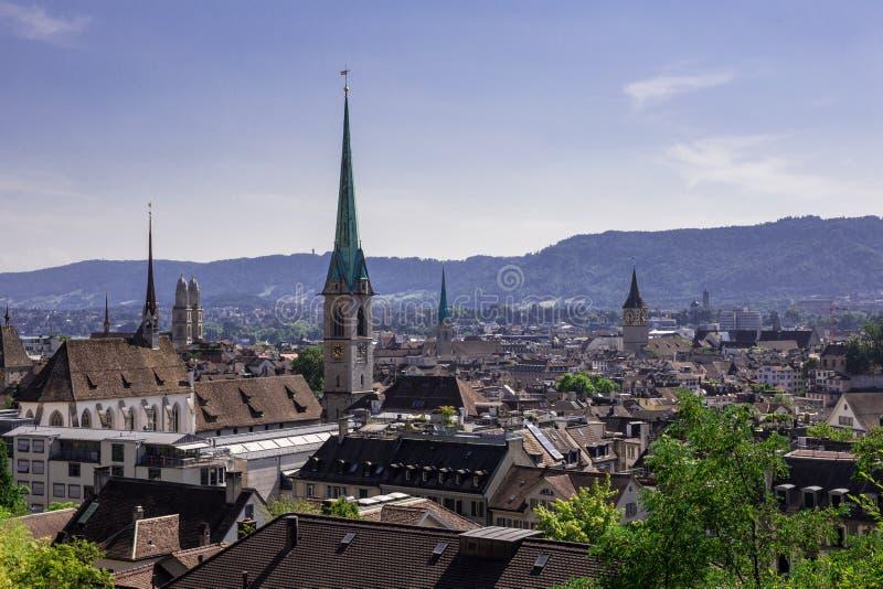 Panorama de Zurich photographie stock