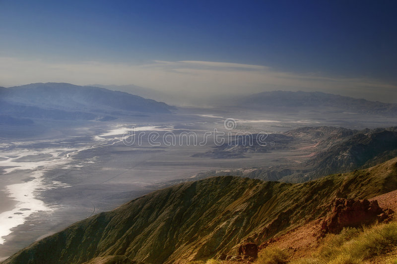 Panorama of Death Valley stock photos