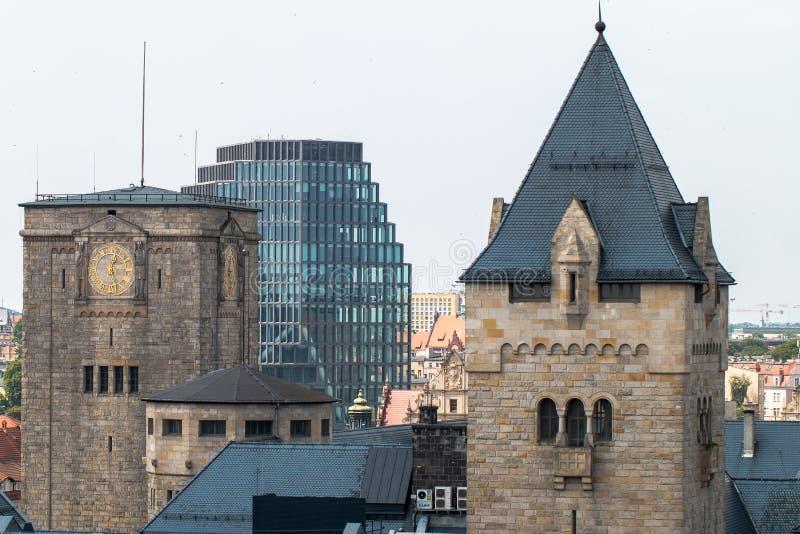 """Panorama del """"di PoznaÅ dal tetto immagini stock libere da diritti"""