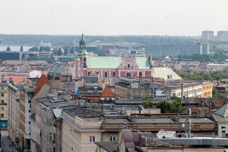 """Panorama del """"di PoznaÅ dal tetto immagine stock libera da diritti"""
