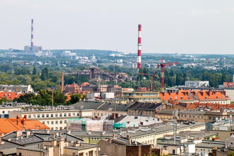 """Panorama del """"di PoznaÅ dal tetto fotografia stock"""