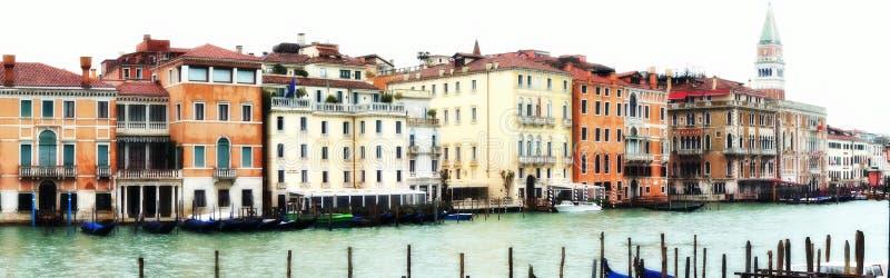 Panorama del agua de Venecia fotografía de archivo libre de regalías