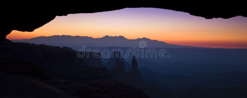 Panorama del arco del Mesa fotos de archivo libres de regalías