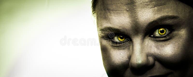 Panorama del ataque del zombi foto de archivo libre de regalías