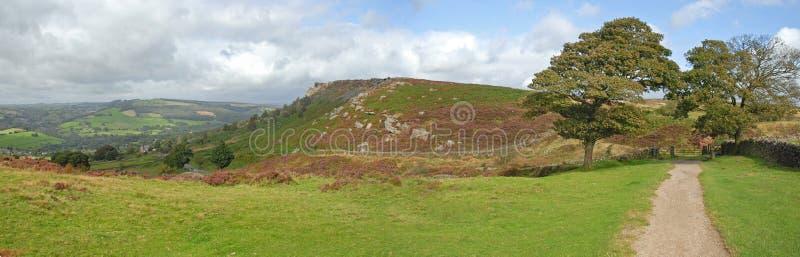 Panorama del borde de Carver en el districto máximo de Derbyshire imágenes de archivo libres de regalías