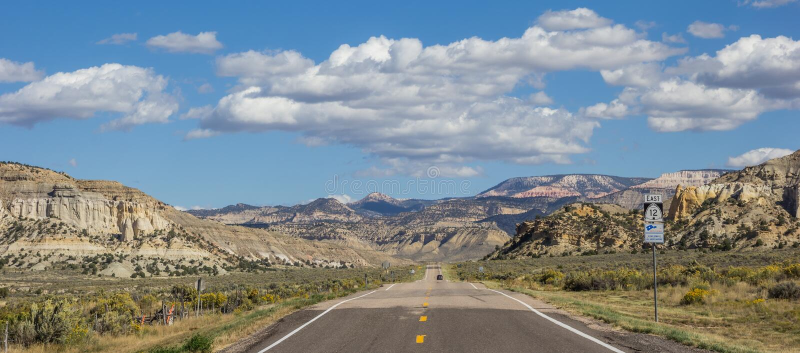 Panorama del camino apartado escénico 12 en Utah fotos de archivo libres de regalías