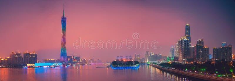 Panorama del cantone Cina di Canton fotografia stock