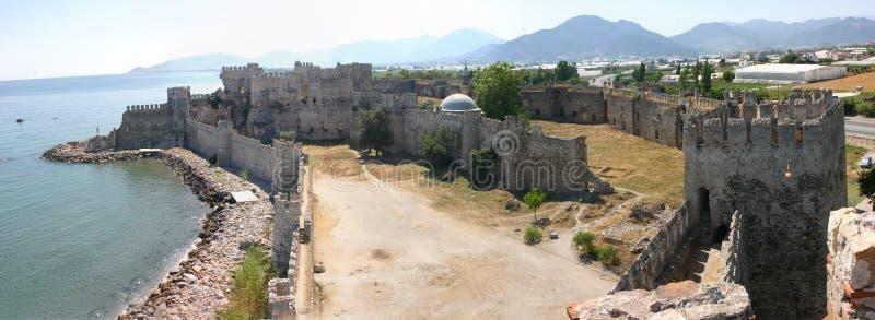 Panorama del castello di Mumure fotografia stock libera da diritti