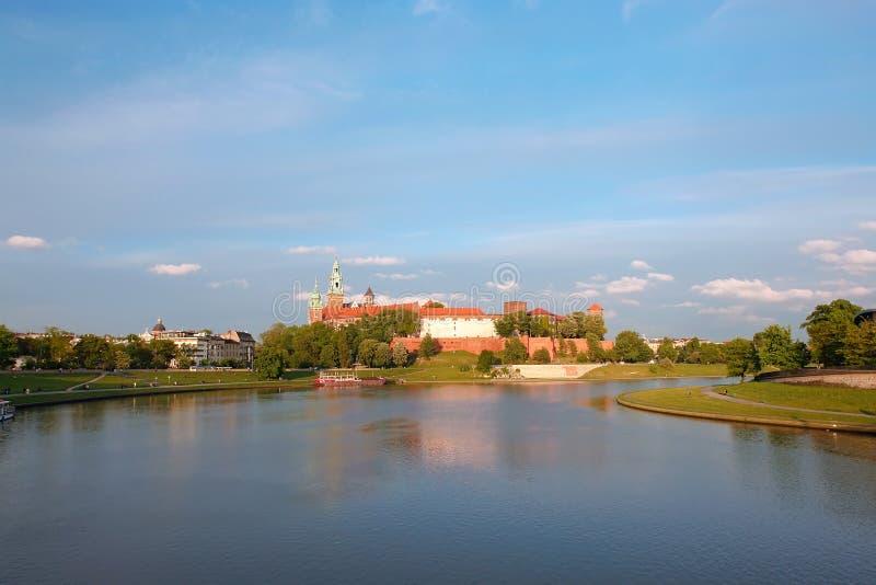 Panorama del castello di Wawel immagini stock