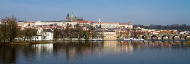 Panorama del castillo de Praga foto de archivo libre de regalías