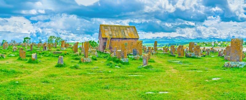 Panorama del cementerio de Noratus fotografía de archivo libre de regalías