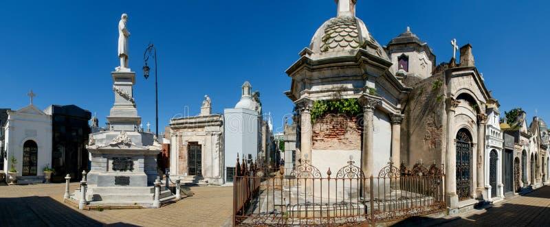 Panorama del cementerio de Recoleta del La en Buenos Aires, la Argentina fotografía de archivo libre de regalías