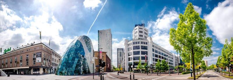 Panorama del centro de ciudad de Eindhoven netherlands imagen de archivo libre de regalías