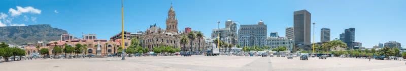 Panorama del centro de ciudad en Cape Town, Suráfrica fotografía de archivo