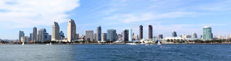Panorama del centro dell'orizzonte di San Diego immagine stock libera da diritti