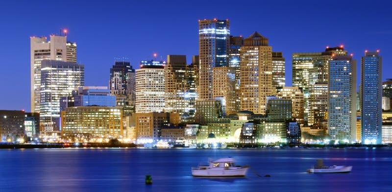 Panorama del centro di Boston fotografia stock libera da diritti