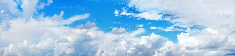 Panorama del cielo immagini stock