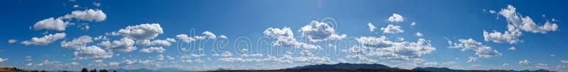 Panorama del cielo fotografía de archivo