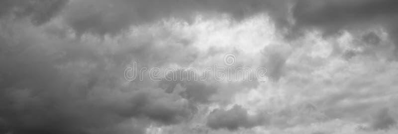 Panorama del cielo della tempesta fotografie stock libere da diritti