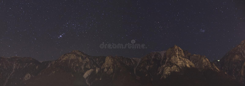 Panorama del cielo notturno immagine stock libera da diritti