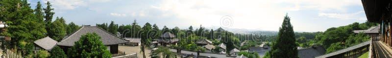 Panorama del complesso del tempiale di Todaiji fotografia stock