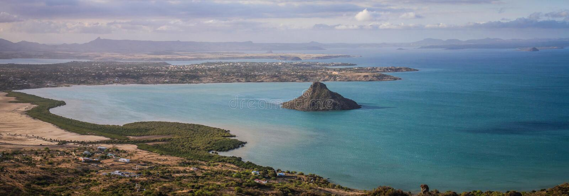 Panorama del DES Français, Diana, Diego Suarez, Madagascar del montagne foto de archivo