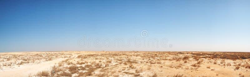 Panorama del deserto del Medio Oriente fotografia stock libera da diritti