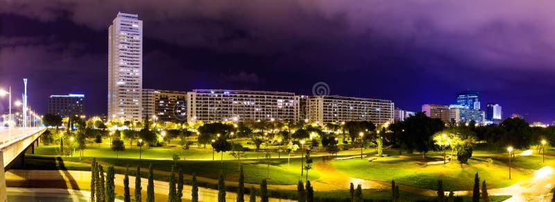 Panorama del distretto residenziale. Valencia, Spagna immagini stock libere da diritti