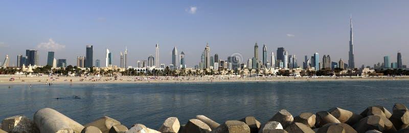Panorama del Dubai fotografia stock