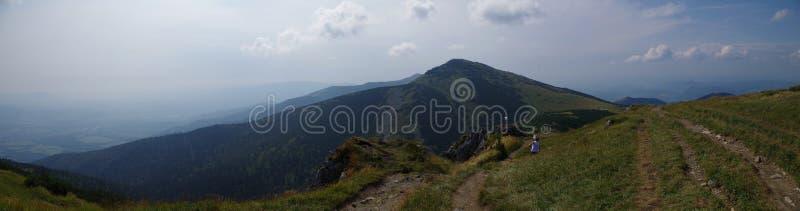 panorama del fatra de Eslovaquia con una montaña de grandes cubiertas imagen de archivo libre de regalías