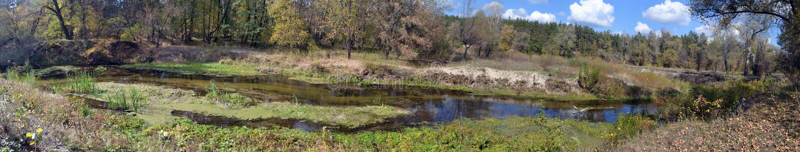 Panorama del fiume immagini stock