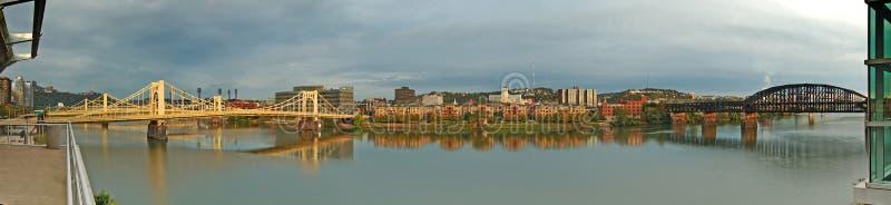 Panorama del fiume di Allegheny. fotografia stock