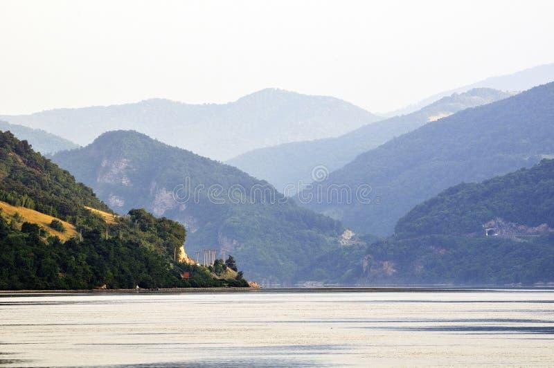 Panorama del fiume di Danubio fotografia stock libera da diritti
