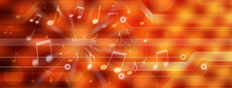 Panorama del fondo de la música de Digitaces ilustración del vector
