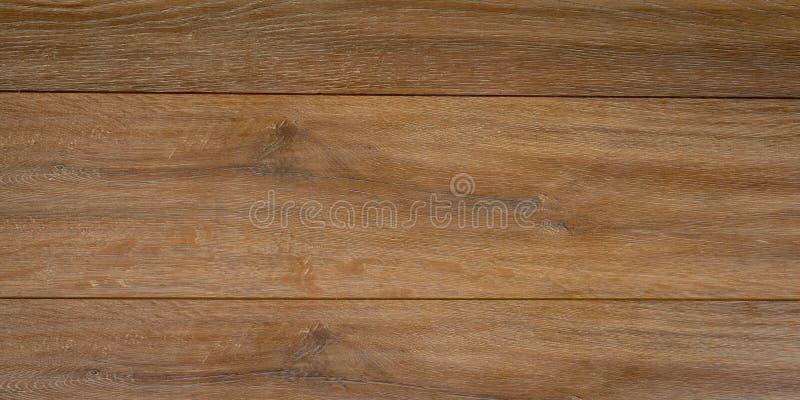 Panorama del fondo y de la textura de madera de la pared del viejo vintage marrón imagenes de archivo