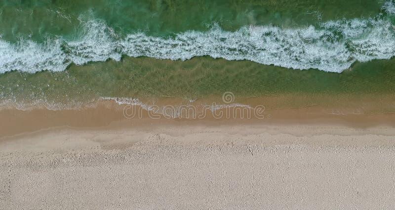 Panorama del fuco della spiaggia di Barra da Tijuca, Rio de Janeiro, Brasile fotografia stock libera da diritti