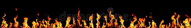 Panorama del fuego fotos de archivo libres de regalías
