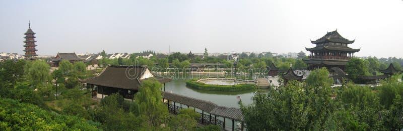 Panorama del giardino di suzhou immagini stock