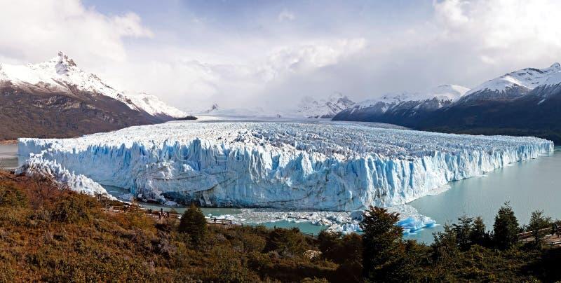 Panorama del glaciar imagen de archivo libre de regalías