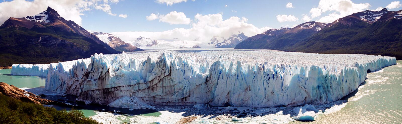 Panorama del glaciar de Perito Moreno imágenes de archivo libres de regalías