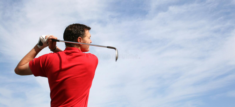 Panorama del golf foto de archivo