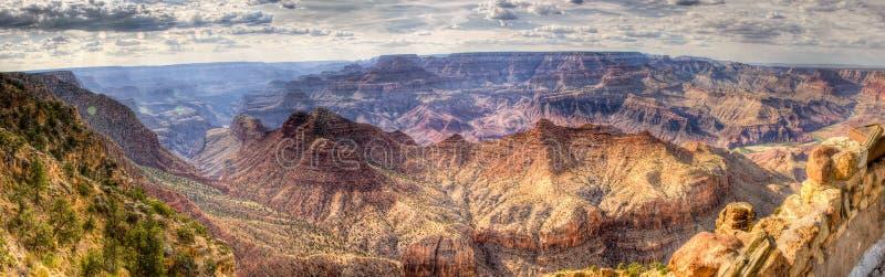 Panorama del grande canyon fotografia stock libera da diritti