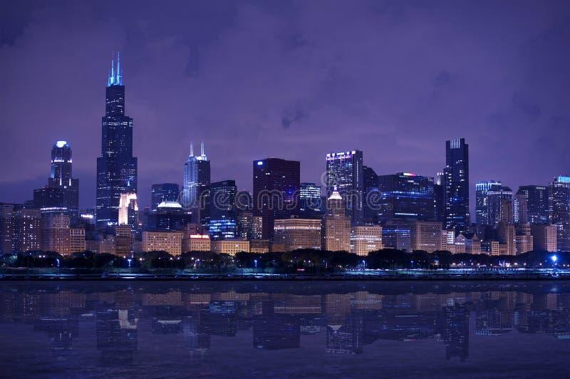 Panorama del horizonte de Chicago fotos de archivo