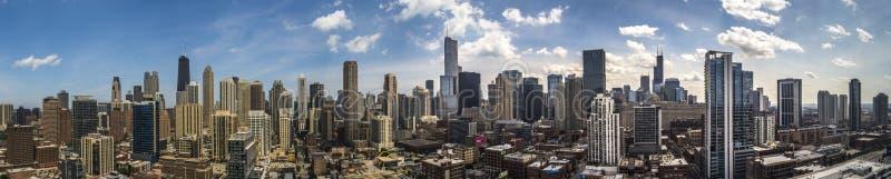 Panorama del horizonte de Chicago fotografía de archivo