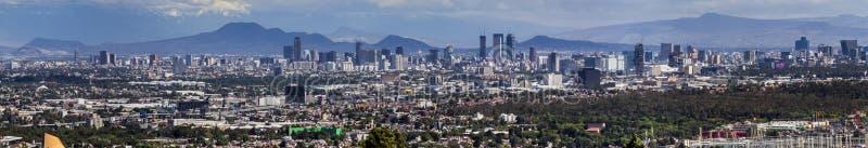 Panorama del horizonte de Ciudad de México imagen de archivo