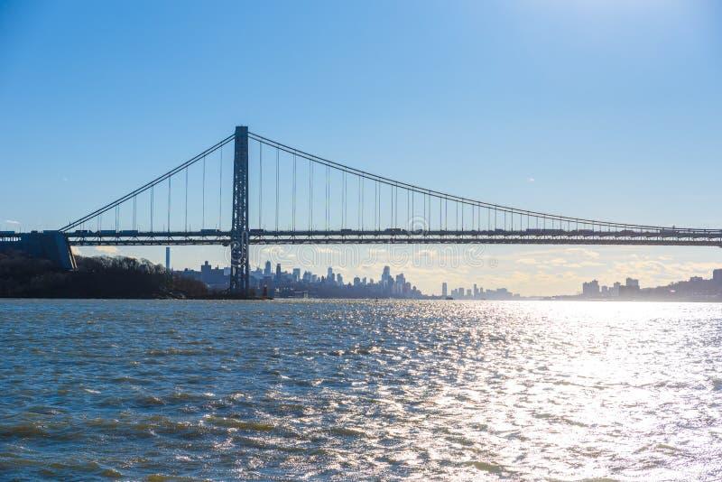 Panorama del horizonte de New York City del Lower Manhattan de Hudson River, New York City, los E.E.U.U. imagen de archivo