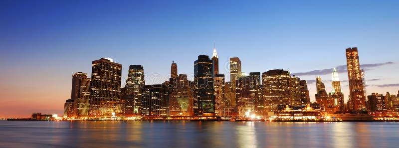 Panorama del horizonte de New York City Manhattan foto de archivo